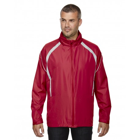 88168 North End 88168 Men's Sirius Lightweight Jacket with Embossed Print OLYMPIC RED 665