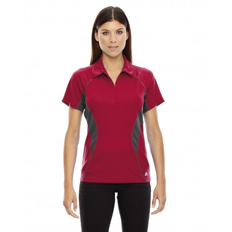 78657 North End 78657 Ladies' Serac UTK cool?logik Performance Zippered Polo OLYMPIC RED 665