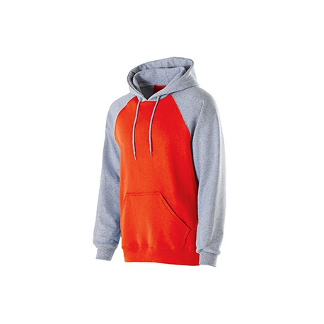 229279 Holloway 229279 Youth Cotton/Poly Fleece Banner Hoodie ORANG/ATHL HTHR