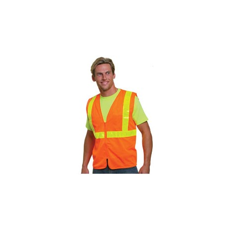 BA3780 Bayside BA3780 Mesh Safety Vest - Orange ORANGE
