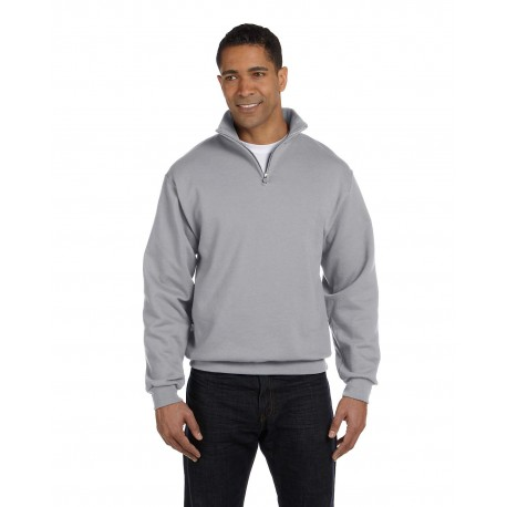 995M Jerzees 995M Adult 8 oz. NuBlend Quarter-Zip Cadet Collar Sweatshirt OXFORD