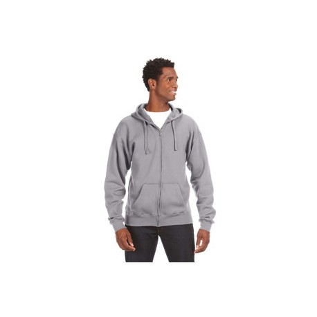 JA8821 J America JA8821 Adult Premium Full-Zip Fleece Hood OXFORD