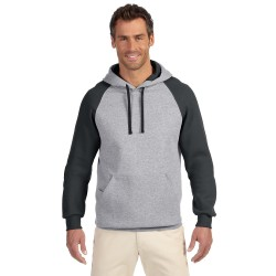 Jerzees 96CR Adult 8 oz. NuBlend Colorblock Raglan Pullover Hood