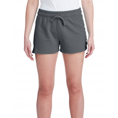 1537L Comfort Colors 1537L Ladies' French Terry Short PEPPER