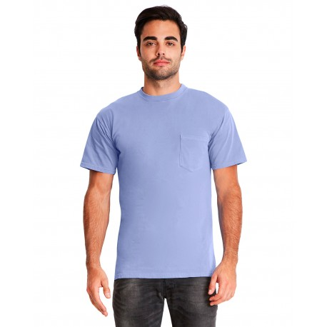 7415 Next Level 7415 Adult Inspired Dye Crew with Pocket PERI BLUE