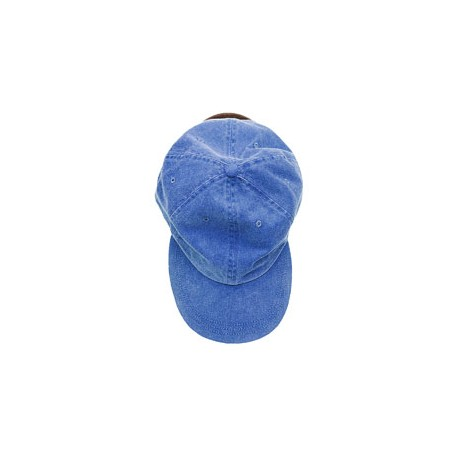 ACKO101 Adams ACKO101 Youth Pigment-Dyed Cap. PERIWINKLE