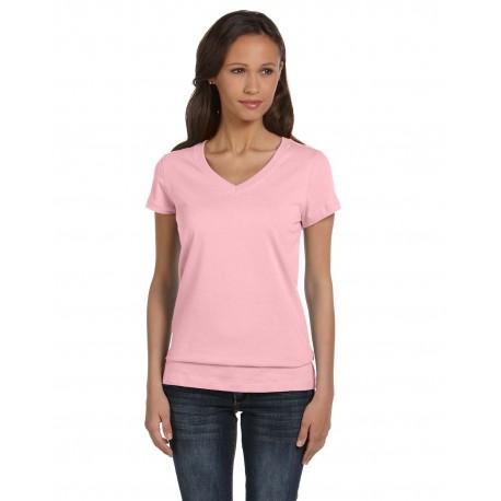 B6005 Bella + Canvas B6005 Ladies' Jersey Short-Sleeve V-Neck T-Shirt PINK