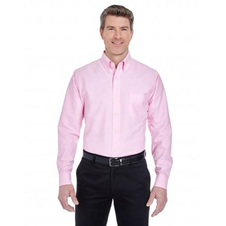 8970 UltraClub 8970 Men's Classic Wrinkle-Resistant Long-Sleeve Oxford PINK