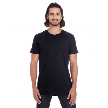 5624 Anvil 5624 Adult Lightweight Long & Lean T-Shirt BLACK