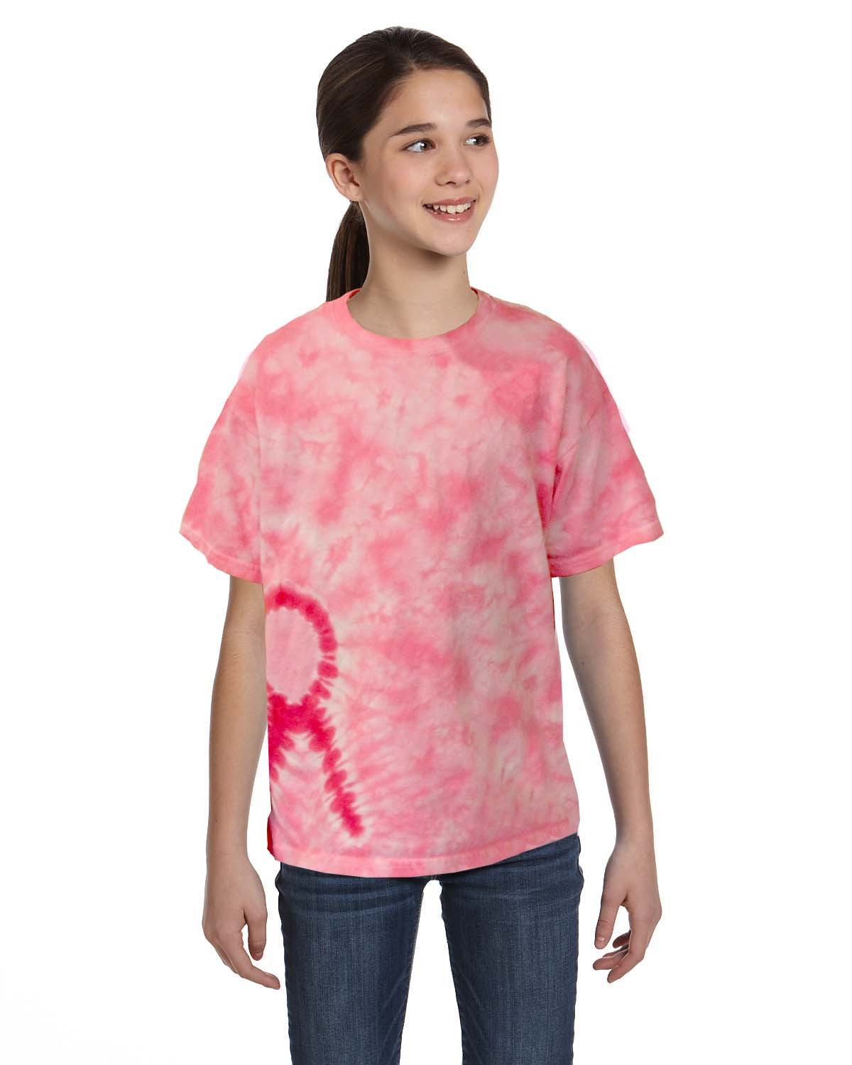 CD1150Y Tie-Dye PINK RIBBON