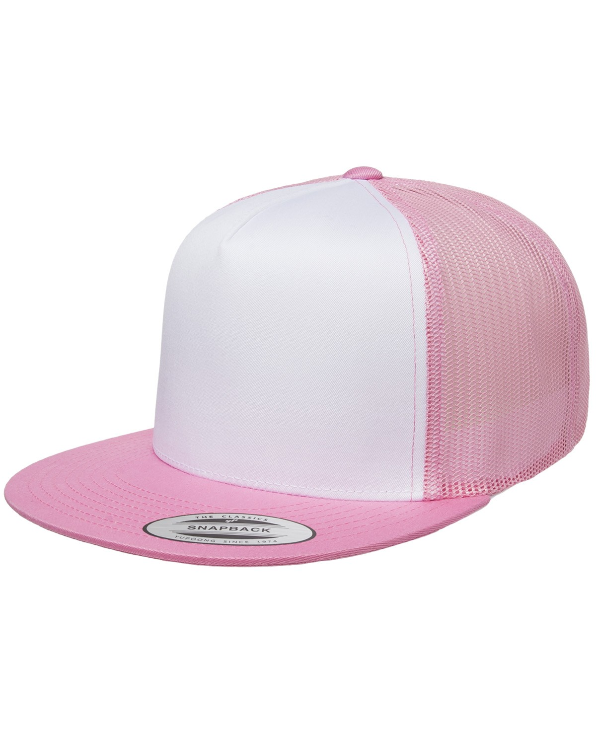 6006W Yupoong PINK/WHT/PINK
