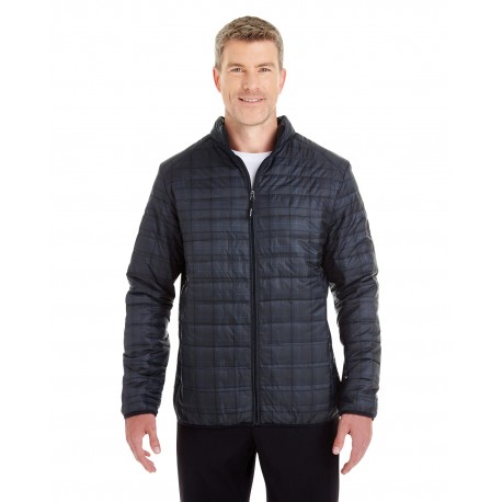 NE701 North End NE701 Men's Portal Interactive Printed Packable Puffer Jacket PLAID 703