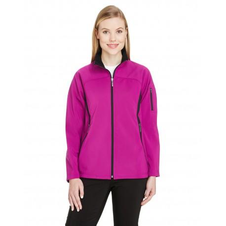 78034 North End 78034 Ladies' Three-Layer Fleece Bonded Performance Soft Shell Jacket PLUM ROSE 889