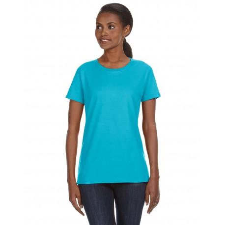 780L Anvil 780L Ladies' Midweight Mid-Scoop T-Shirt POOL BLUE