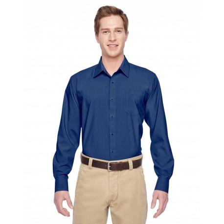 M610 Harriton M610 Men's Paradise Long-Sleeve Performance Shirt POOL BLUE