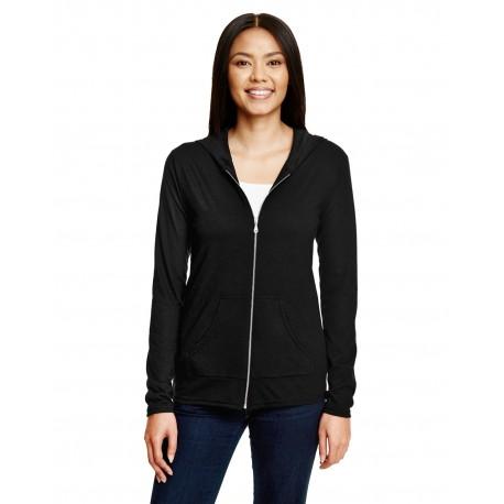 6759L Anvil 6759L Ladies' Triblend Full-Zip Jacket BLACK