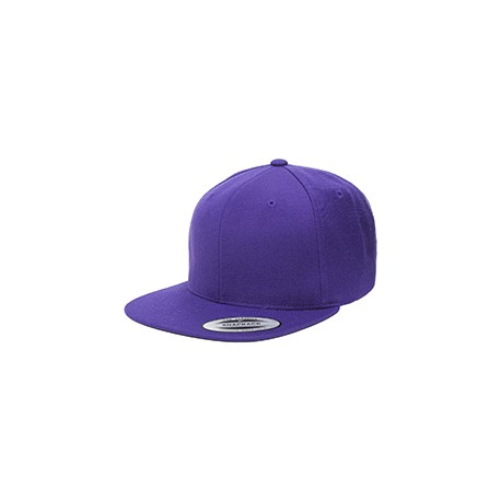 6089 Yupoong 6089 Adult 6-Panel Structured Flat Visor Classic Snapback PURPLE