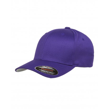 6277 Flexfit 6277 Adult Wooly 6-Panel Cap PURPLE