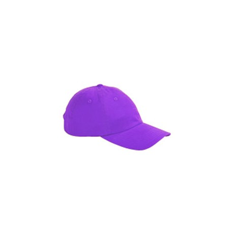 BX001 Big Accessories BX001 6-Panel Brushed Twill Unstructured Cap PURPLE