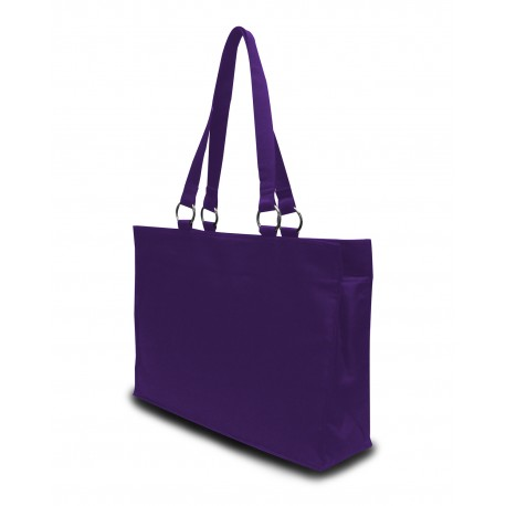8832 Liberty Bags 8832 Stephanie Large Game Day Tote PURPLE