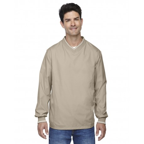 88132 North End 88132 Adult V-Neck Unlined Wind Shirt PUTTY 734