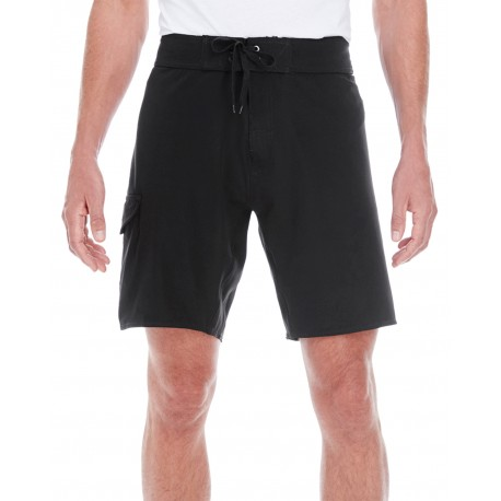 B9371 Burnside B9371 Men's Dobby Stretch Board Short BLACK
