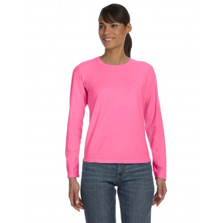 C3014 Comfort Colors C3014 Ladies' Midweight RS Long-Sleeve T-Shirt RASPBERRY