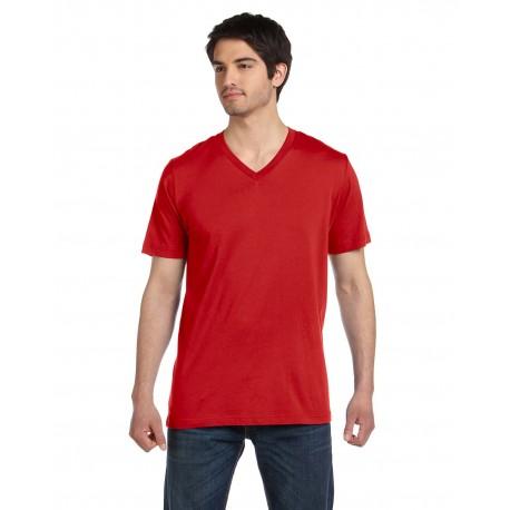 3005 Bella + Canvas 3005 Unisex Jersey Short-Sleeve V-Neck T-Shirt RED
