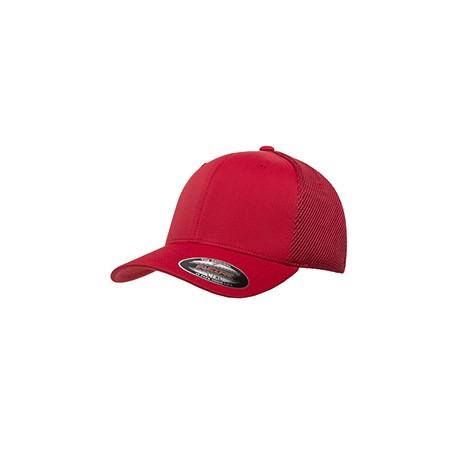 6533 Flexfit 6533 Adult Ultrafibre and Airmesh Cap RED