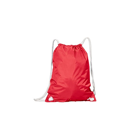 8887 Liberty Bags 8887 White Drawstring Backpack RED