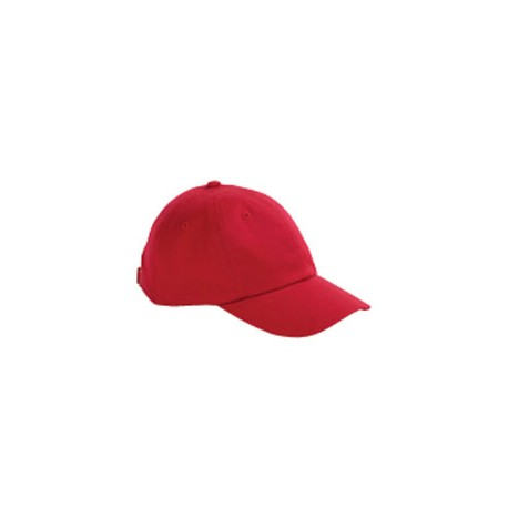 BX001Y Big Accessories BX001Y Youth 6-Panel Brushed Twill Unstructured Cap RED