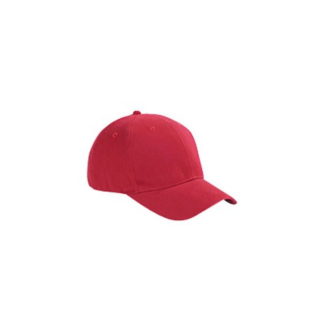 BX002 Big Accessories BX002 6-Panel Brushed Twill Structured Cap RED