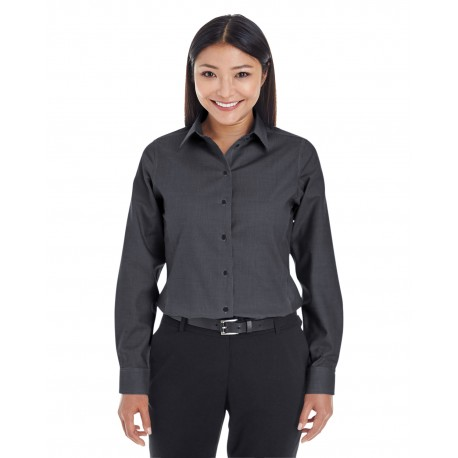 DG532W Devon & Jones DG532W Ladies' Crown Woven Collection Royal Dobby Shirt BLACK