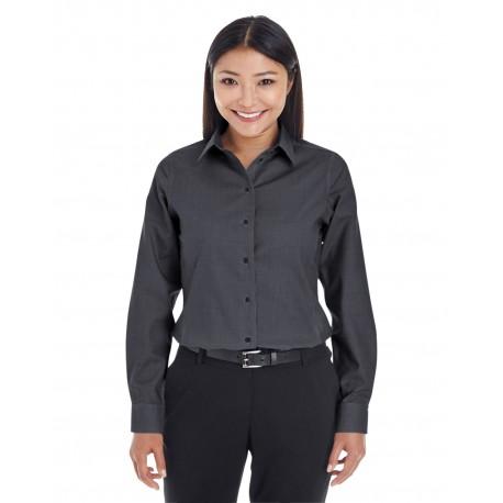 DG532W Devon & Jones DG532W Ladies' Crown Woven Collection Royal Dobby Shirt BLACK