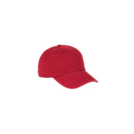 BX005 Big Accessories BX005 6-Panel Washed Twill Low-Profile Cap RED