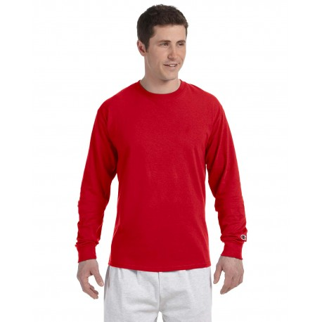 CC8C Champion CC8C Adult 5.2 oz. Long-Sleeve T-Shirt RED
