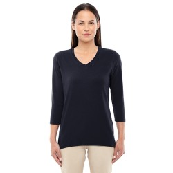 Devon & Jones DP184W Ladies' Perfect Fit Bracelet-Length V-Neck Top
