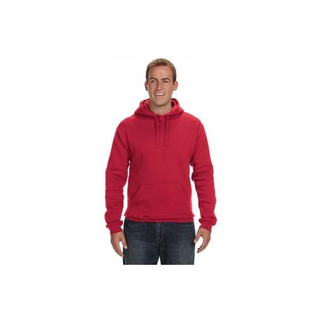 JA8824 J America JA8824 Adult Premium Fleece Pullover Hood RED