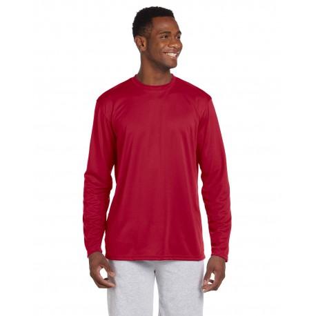 M320L Harriton M320L Adult 4.2 oz. Athletic Sport Long-Sleeve T-Shirt RED