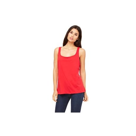 6488 Bella + Canvas 6488 Ladies' Relaxed Jersey Tank RED
