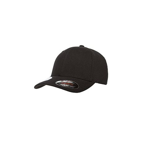 6580 Flexfit 6580 Adult Pro-Formance Trim Poly Cap BLACK
