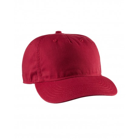 EC7087 Econscious EC7087 Twill 5-Panel Unstructured Hat RED