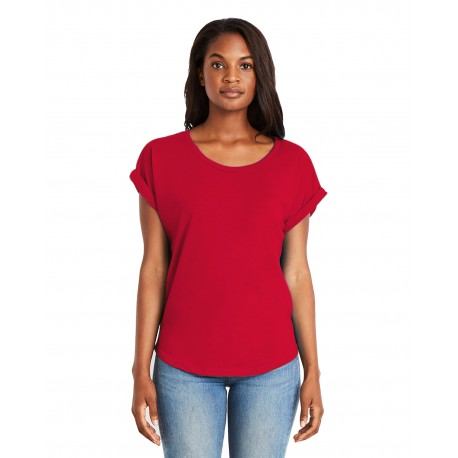 6360 Next Level 6360 Ladies' Dolman with Rolled Sleeves RED