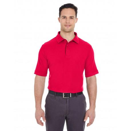 7510 UltraClub 7510 Men's Platinum Honeycomb Pique Polo RED