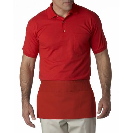 8203 Liberty Bags 8203 Three-Pocket Waist Apron RED