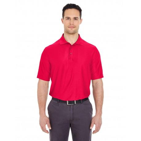 8413 UltraClub 8413 Men's Cool & Dry Elite Tonal Stripe Performance Polo RED