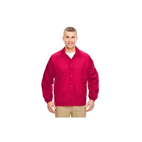 8944 UltraClub 8944 Adult Nylon Coaches' Jacket RED