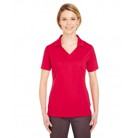 8320L UltraClub 8320L Ladies' Platinum Performance Jacquard Polo with TempControl Technology RED