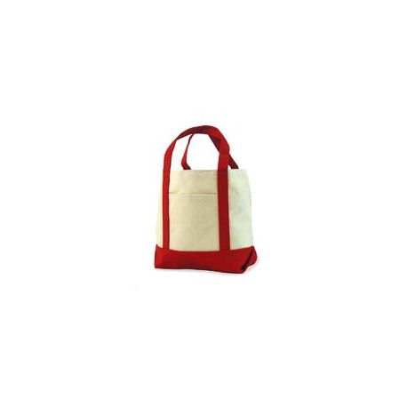 8867 Liberty Bags 8867 Seaside Cotton Canvas Tote RED
