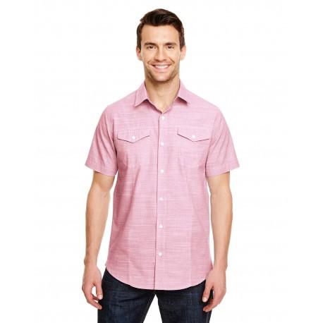 B9247 Burnside B9247 Men's Textured Woven Shirt RED